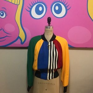 Moschino Cheap Chic Color Block Bomber Jacket